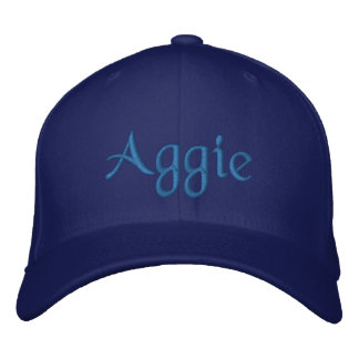 Aggie Blue Embroidered Baseball Cap / Hat