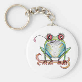 'Aggie' the red eyed tree frog Key Chain