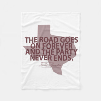Aggies- The Road Goes On Forever- Fleece Blanket