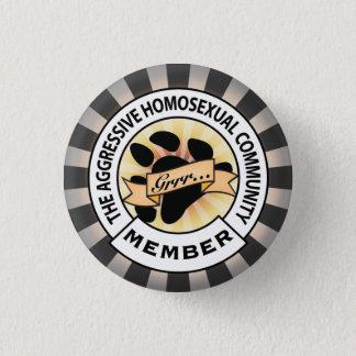 Aggressive Bear badge 1 Inch Round Button