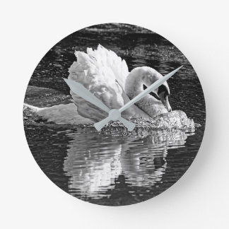 Aggressive Beauty (B&W) Round Clock