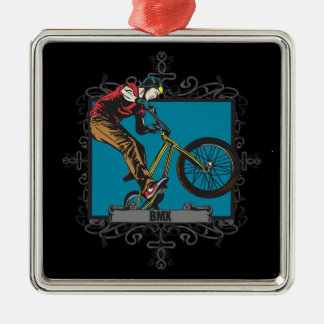 Aggressive BMX Metal Ornament