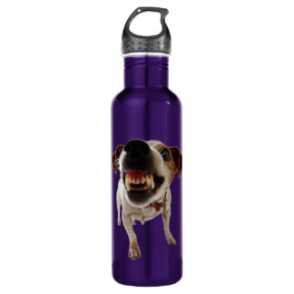 Aggressive dog - angry dog - funny dog 710 ml water bottle