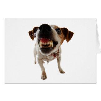 Aggressive dog - angry dog - funny dog card