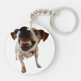 Aggressive dog - angry dog - funny dog keychain