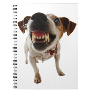 Aggressive dog - angry dog - funny dog notebook