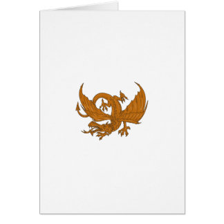 Aggressive Dragon Crouching Drawing Card