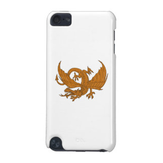 Aggressive Dragon Crouching Drawing iPod Touch 5G Cover