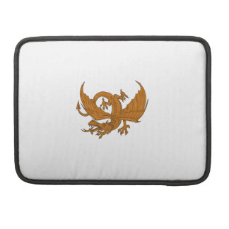 Aggressive Dragon Crouching Drawing Sleeve For MacBook Pro