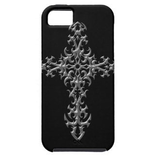 Aggressive Grey Gothic Cross iPhone 5 Cover