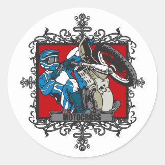 Aggressive Motocross Classic Round Sticker