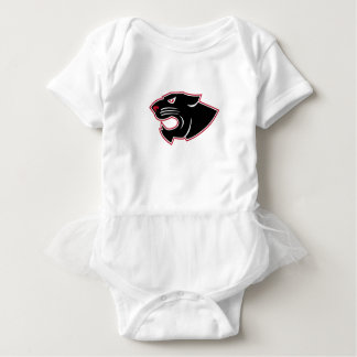 Aggressive Panther Head Icon Baby Bodysuit