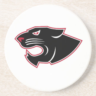 Aggressive Panther Head Icon Coaster