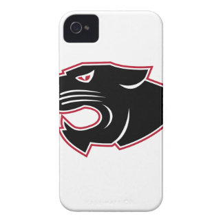Aggressive Panther Head Icon iPhone 4 Cover