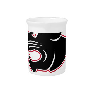 Aggressive Panther Head Icon Pitcher