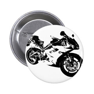 aggressive sport motorcycle 2 inch round button