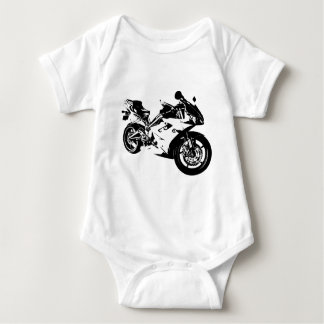 aggressive sport motorcycle baby bodysuit