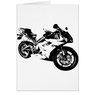 aggressive sport motorcycle card
