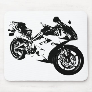 aggressive sport motorcycle mouse pad