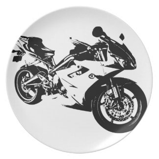 aggressive sport motorcycle party plate