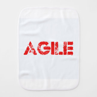 Agile agenda burp cloth