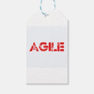 Agile agenda gift tags