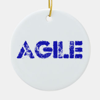 Agile BLUE Ceramic Ornament
