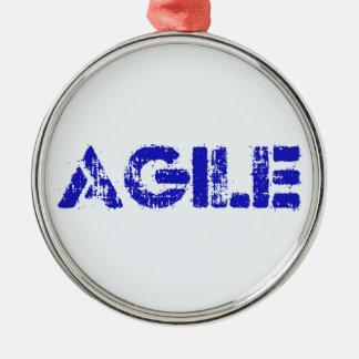 Agile BLUE Metal Ornament