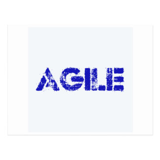 Agile BLUE Postcard
