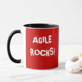 AGILE ROCKS Mug Project Manager Quote Slogan