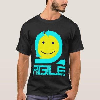 Agile Smiley - for black or dark colored garments T-Shirt