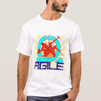 Agile Workers with Sun Beams- Vintage Style T-Shirt