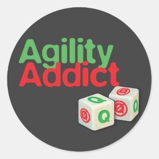 Agility Addict Classic Round Sticker