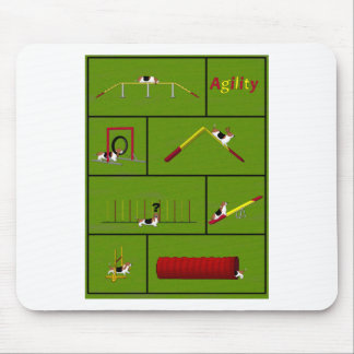 Agility Basset green Mouse Pad