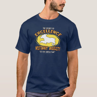 Agility Brittany Spaniel Secret Dark Shirt