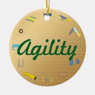 Agility Circle Ceramic Ornament