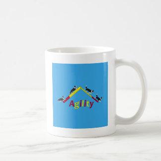 Agility dog classic white coffee mug