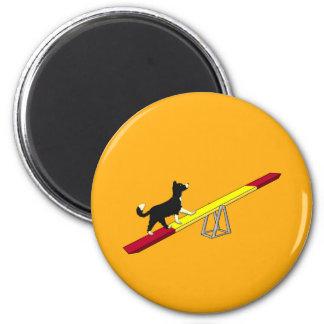 Agility dog magnet