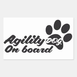 Agility Dog On Board Sticker