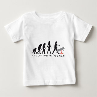Agility dog sport evolution OF woman Baby T-Shirt