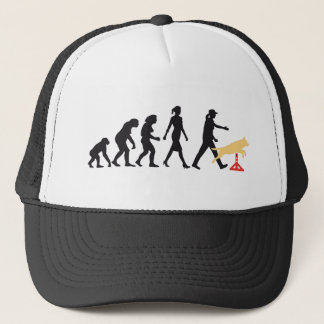Agility dog sport evolution OF woman Trucker Hat