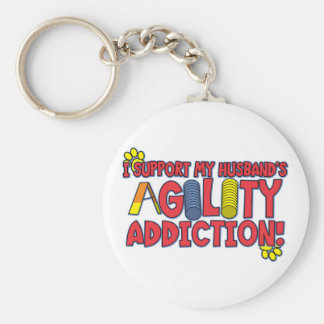 Agility Husband Basic Round Button Keychain