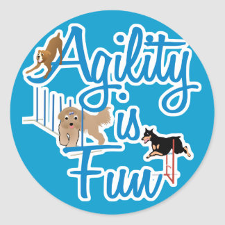 Agility Is Fun Classic Round Sticker