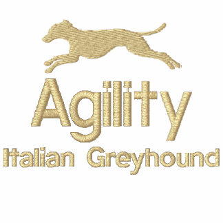 Agility Italian Greyhound Embroidered T-Shirt