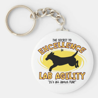 Agility Labrador Retriever Secret Keychain