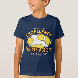Agility Poodle Secret Child's Dark Teeshirt T-Shirt