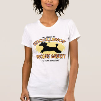 Agility Poodle Secret Ladies TShirt