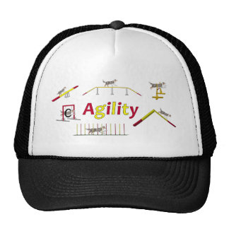 Agility with writing trucker hat