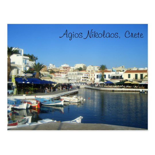 Agios Nikolaos, Crete, Greece Postcard