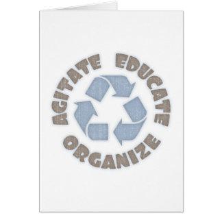 Agitate Educate Organize Card